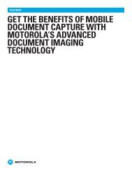 Get the benefits of mobile document capture with Motorola's ...