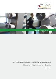 DOSB I Das Fitness-Studio im Sportverein - Sport pro Gesundheit