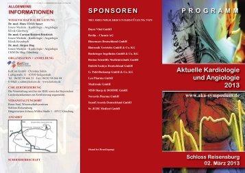 Aktuelle Kardiologie und Angiologie 2013 PROGRAMM ... - ALKK