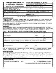 state of north carolina invitation for bids no. 200890 - NC School Bus ...