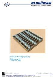 Prospekt FilterrosteSeite2 - NEUHÄUSER Magnet- und Fördertechnik