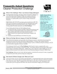 Frequently Asked Questions Cleaner Production Challenge - PPRC