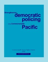 Strengthening Democratic Policing in the Commonwealth Pacific
