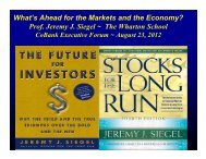 What's Ahead for the Markets and the Economy? Prof ... - CoBank