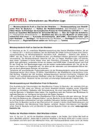 AKTUELL Informationen aus Westfalen-Lippe - Westfalen Initiative