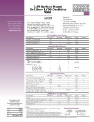 3.3V Surface Mount 5x7.5mm LVDS Oscillator V501 - Connor-Winfield