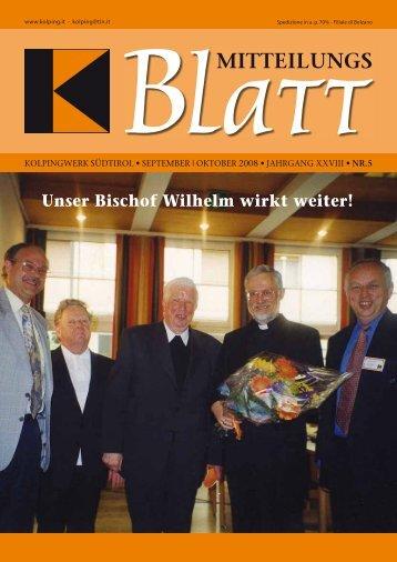 Unser Bischof Wilhelm wirkt weiter! - Kolpingwerk Südtirol