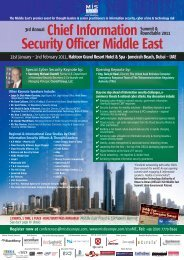 Chief Information Security Officer Middle East - MIS Training
