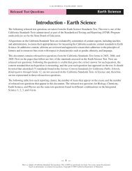 Earth Science RTQ - Standardized Testing and Reporting (STAR ...