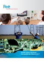 Quelle valeur attribuer à la qualité de l'électricité ? - RTE