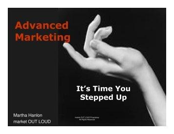Advanced Marketing - Live Out Loud