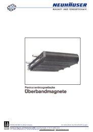 Prospekt - NEUHÄUSER Magnet- und Fördertechnik