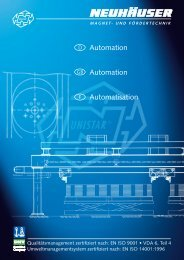 NH Automation (D-GB-F) - NEUHÄUSER Magnet- und Fördertechnik