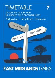 Download Nottingham to Skegness timetable - East Midlands Trains