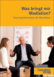 Was bringt mir Mediation? - Concadora Verlag Stuttgart