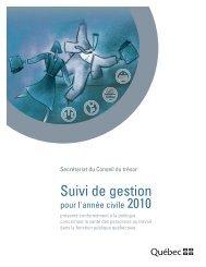Suivi de gestion pour l'année civile 2010 (1,84 Mo) - Secrétariat du ...