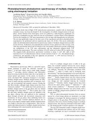 Photodetachment photoelectron spectroscopy of multiply charged ...