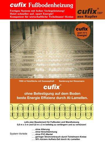 Fußbodenheizung - Cufix