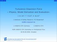 Turbulence Dispersion Force -- Physics, Model ... - Th. Frank
