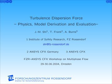 Turbulence Dispersion Force -- Physics, Model ... - Th. Frank