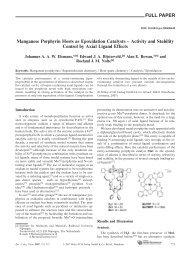 Manganese Porphyrin Hosts as Epoxidation Catalysts - Activity and ...