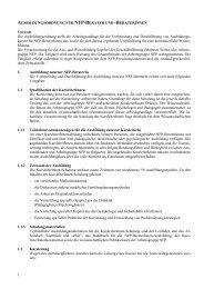 Ausbildungsordnung für NFP BeraterInnen - NFP- Zentrum Leipzig