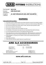 ARB 4x4 ACCESSORIES - CatalogRack.com