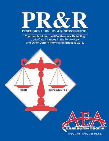 AEA's Professional Rights and Responsibilities booklet - Alabama ...