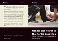 Gender and Power in the Nordic Countries - West