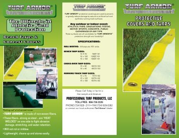 PROTECTIVE COVERS AND TARPS - Professional Turf Products LLC
