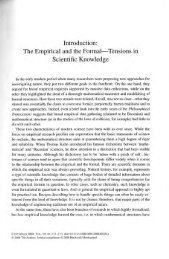 The Empirical and the Formal Tensions in Scientific ... - Philosophie