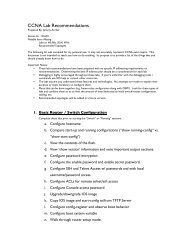 CCNA Lab Recommendations.pdf - The Cisco Learning Network