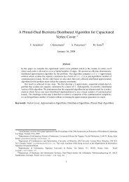 A Primal-Dual Bicriteria Distributed Algorithm for Capacitated ... - Idsia