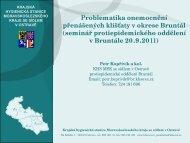 Problematika onemocnění přenášených klíšťaty v okrese Bruntál