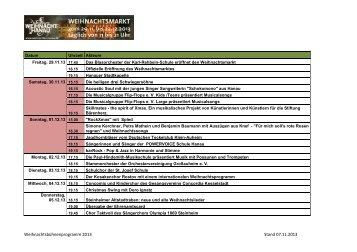 Weihnachtsbühnenprogramm 2013 Stand 07.11 ... - Hanau baut um