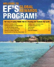 GLOBAL REWARDS - EF Educational Tours