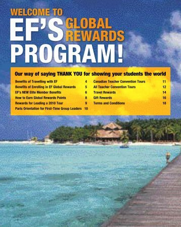 GLOBAL REWARDS - EF Educational Tours