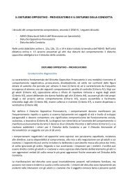 IL DISTURBO OPPOSITIVO - PROVOCATORIO E IL ... - Educazione.it