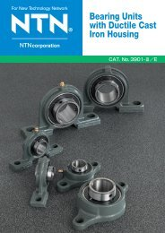 Bearing Units with Ductile Cast Iron Housing - NTN