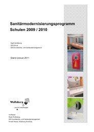 Sanitärmodernisierungsprogramm Schulen 2009 / 2010 - Wolfsburg
