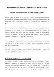 Presentazione del volume con il lavoro di ricerca di Alvio Patierno ...