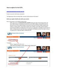 How to register for the ACTFL - Western Washington University