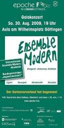 epoche F - Musik 21 Niedersachsen 2008-2011