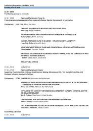 Preliminary Programme (as of August 29, 2010) - Kenes Group
