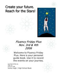 Create your future. Reach for the Stars! - Fluency Friday Plus