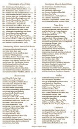 Wine List - Perry's Steakhouse & Grille