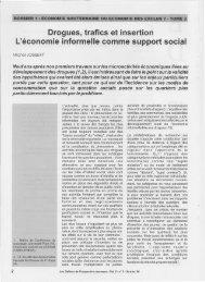 Drogues, trafics et insertion l'économie informelle comme support ...
