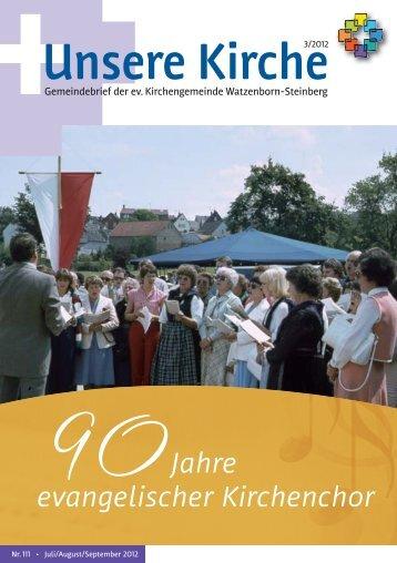Unsere Kirche 3/2012 Juli bis September - Evangelische ...