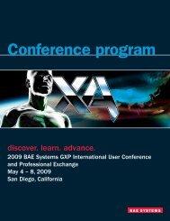 Conference program - BAE Systems GXP Geospatial eXploitation ...