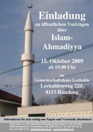 Gemeinschaftshaus Leehalde, Rümlang - Ahmadiyya Muslim ...